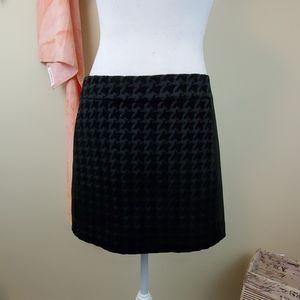 Rachel Roy Sz 6 Black Houndstooth Mini Skirt